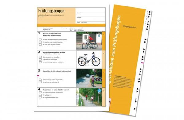 Der schlaue Radfahrer – Prüfungsbogen zum Arbeitsheft