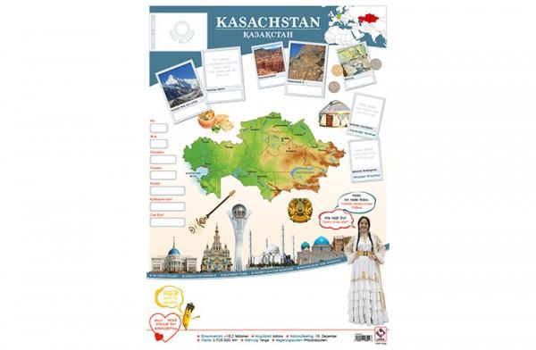 Kasachstan Länderposter A2