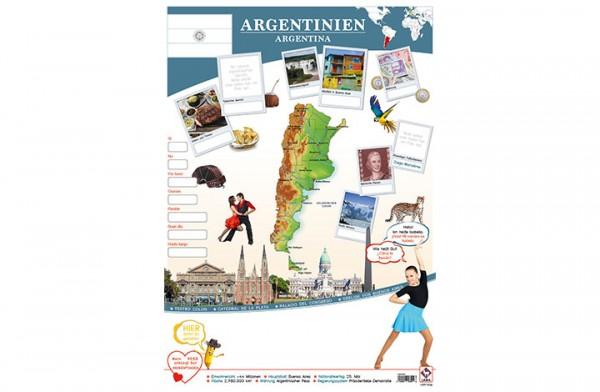 Argentinien Länderposter A1