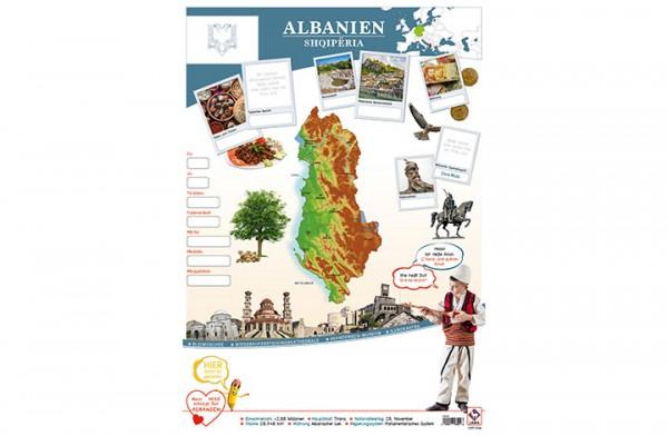 Albanien Länderposter A2