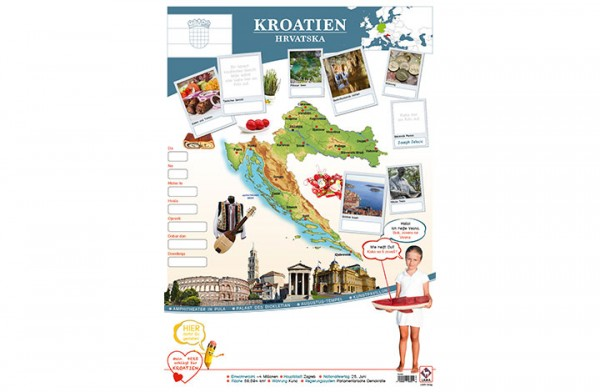Kroatien Länderposter A2