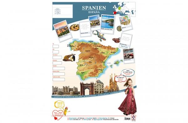 Spanien Länderposter A1