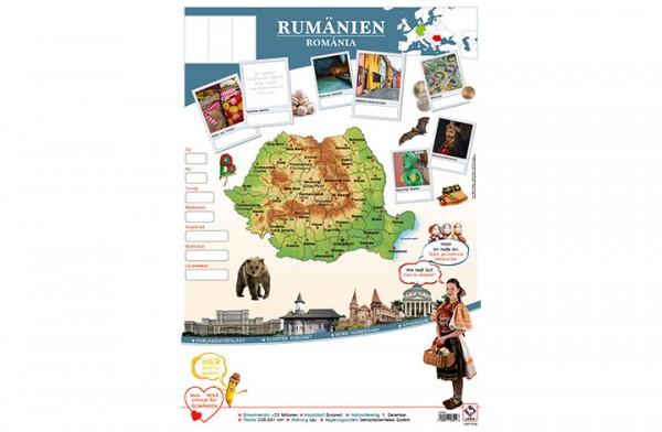 Rumänien Länderposter A1