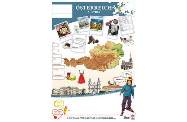 Österreich Länderposter A2
