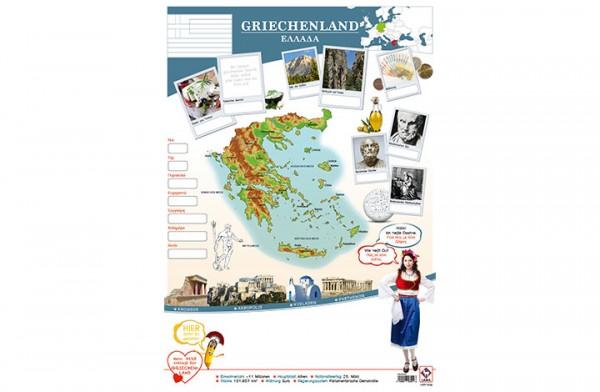 Griechenland Länderposter A2