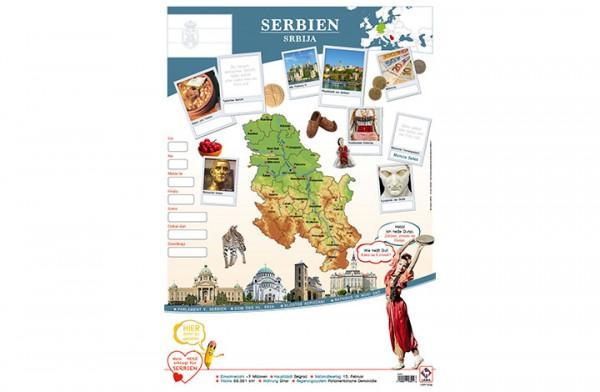 Serbien Länderposter A1