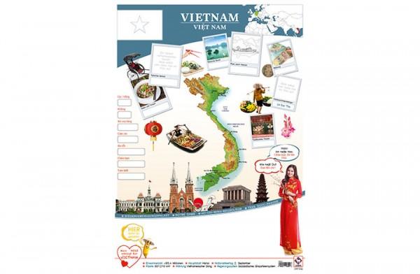Vietnam Länderposter A1