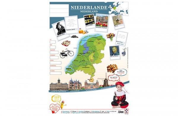 Niederlande Länderposter A1