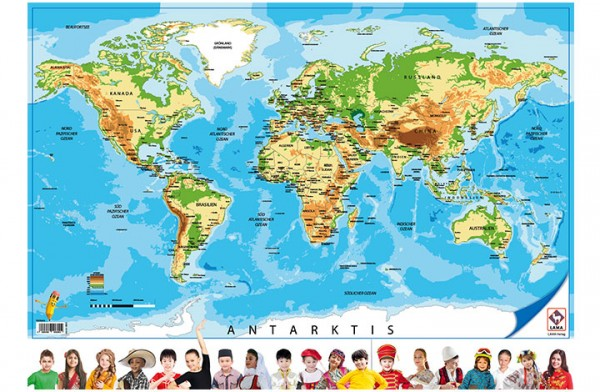 Weltkarte-Poster A1