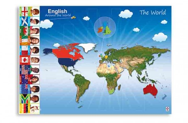 English Around the World – Poster (DIN A1)