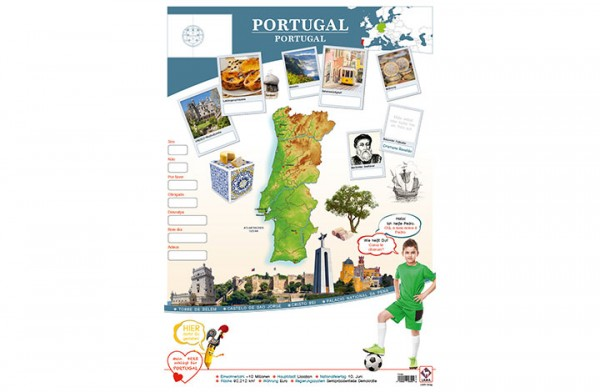 Portugal Länderposter A1