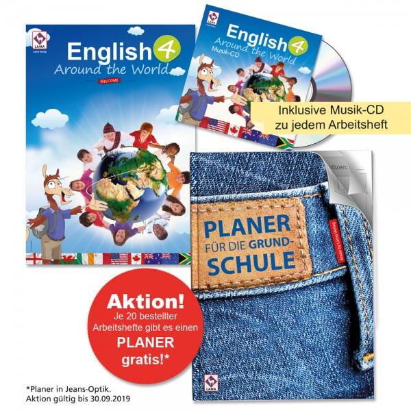 English Around the World 4 – Arbeitsheft (Druckschrift)