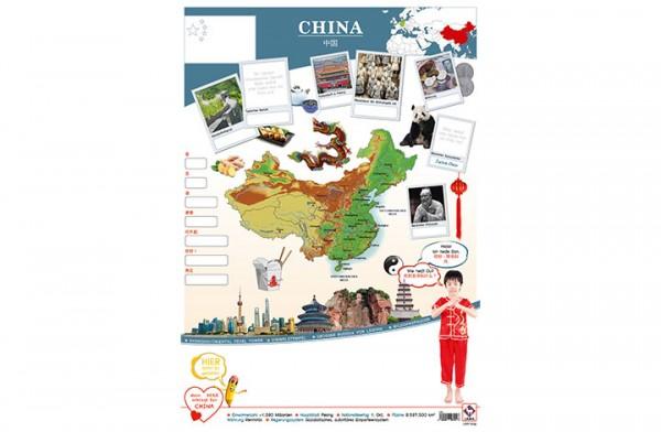 China Länderposter A2
