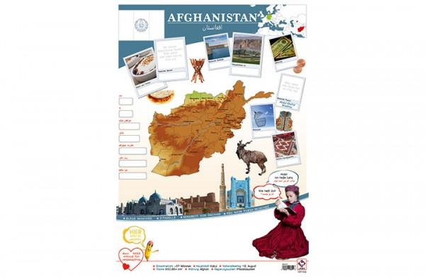 Afghanistan Länderposter A2