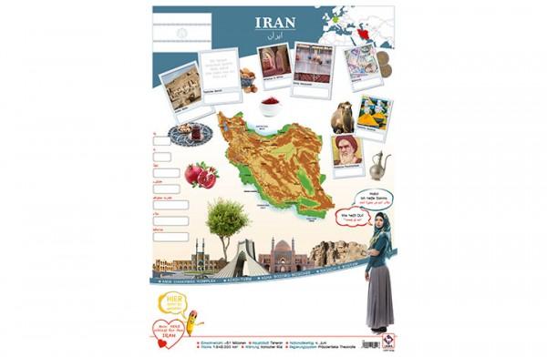 Iran Länderposter A2