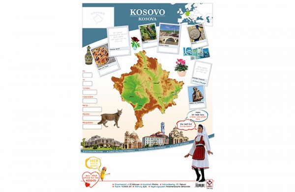 Kosovo Länderposter A2