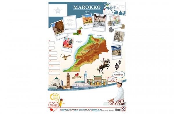 Marokko Länderposter A2