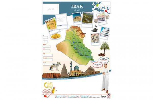 Irak Länderposter A2