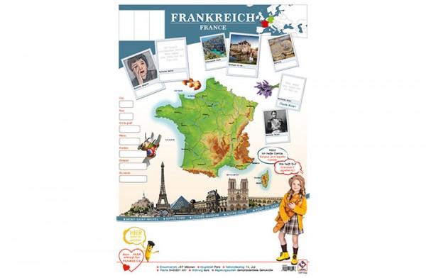 Frankreich Länderposter A2