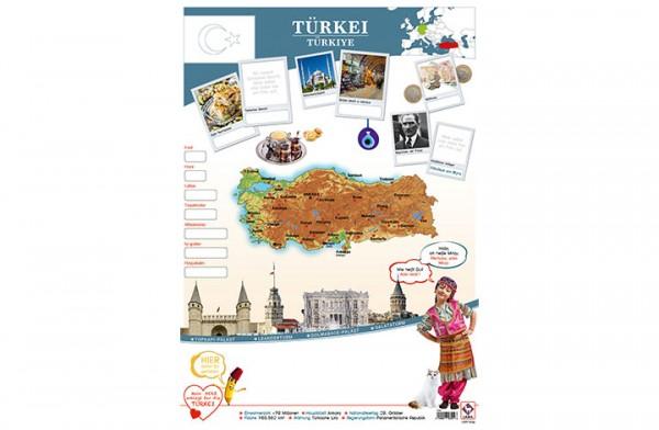 Türkei Länderposter A1