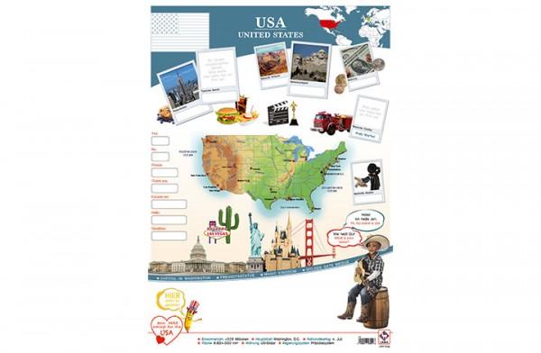 USA Länderposter A2