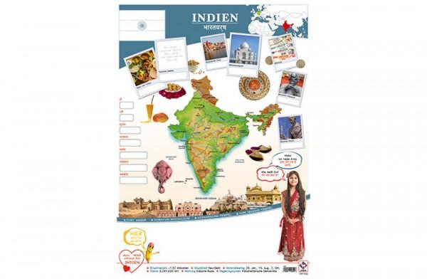 Indien Länderposter A2