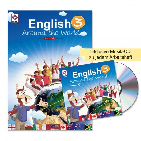 English Around the World 3 – Arbeitsheft (Druckschrift)