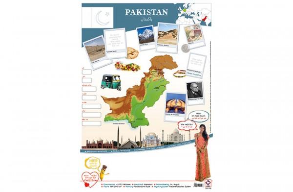 Pakistan Länderposter A2