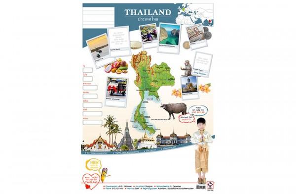 Thailand Länderposter A2