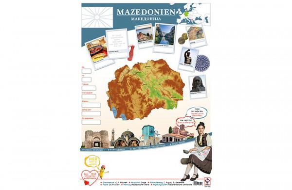 Mazedonien Länderposter A2