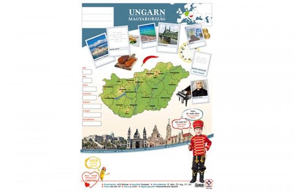 Ungarn Länderposter A2